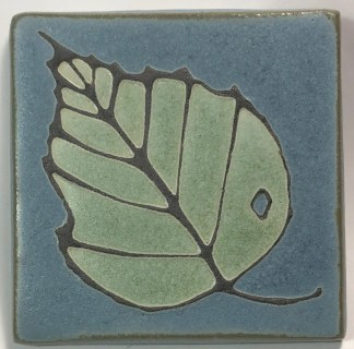 "4"" Birch Leaf Art Tile"