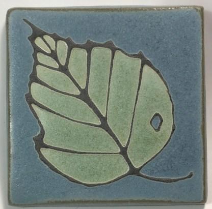 "4"" Birch Leaf Art Tile"