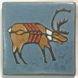 "4"" X-ray Style Caribou Art Tile"