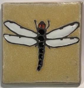 """4"""" Dragonfly Art Tile"""