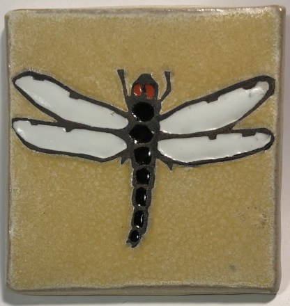 "4"" Dragonfly Art Tile"