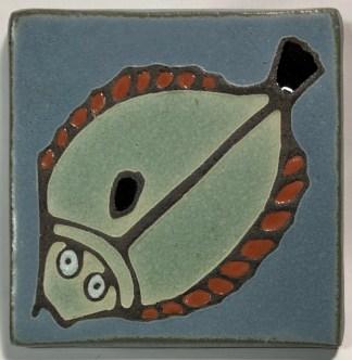 "4"" Halibut Art Tile"