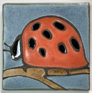 """4"""" Ladybug Art Tile"""