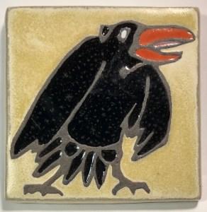 """4"""" Raven Art Tile"""