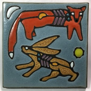 "6"" Fox & Hare Art Tile"