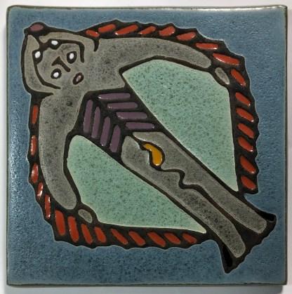 "6"" HalibutMan Art Tile"