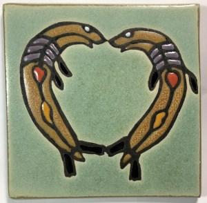 "6"" Seal-Heart Art Tile"