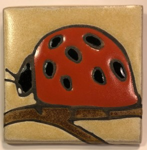 "4"" Ladybug, cream background"