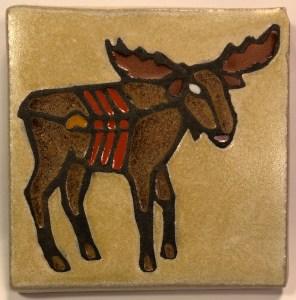 Moose Art Tile