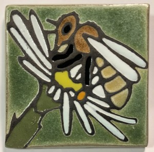 "4"" Honey Bee Art Tile"