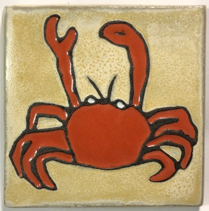 "4"" Crab Art Tile"