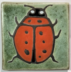 "4"" Ladybug Top View Art Tile"