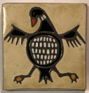 "4"" Loon Art Tile"
