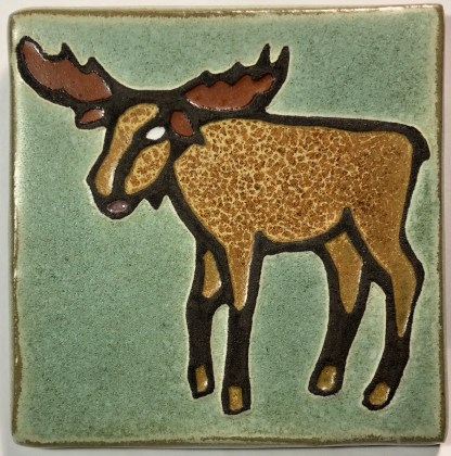 "4"" Moose Art Tile"