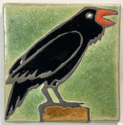 "4"" Raven Facing Right Art Tile"
