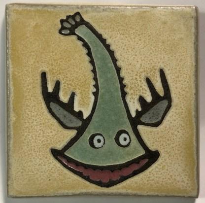 """4"""" Swan/Fish Art Tile"""