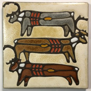 "6"" Caribou Art Tile"