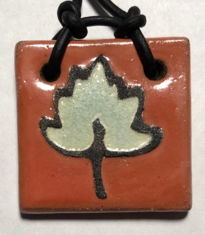 """Leaf Pendant, 1-1/2"""""""