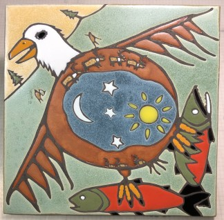 "12"" Eagle Art Tile"
