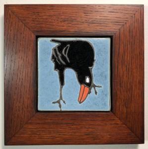 """4"""" Raven in Oak Frame"""