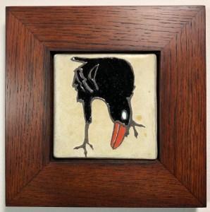 "4"" raven tile in oak frame"