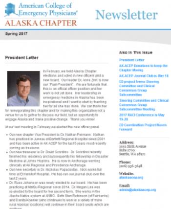 Alaska ACEP newsletter