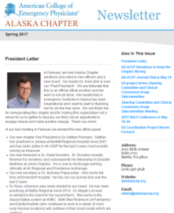 Alaska ACEP newsletter