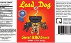 LEAD DOG SWEET BBQ SAUCE 14.5