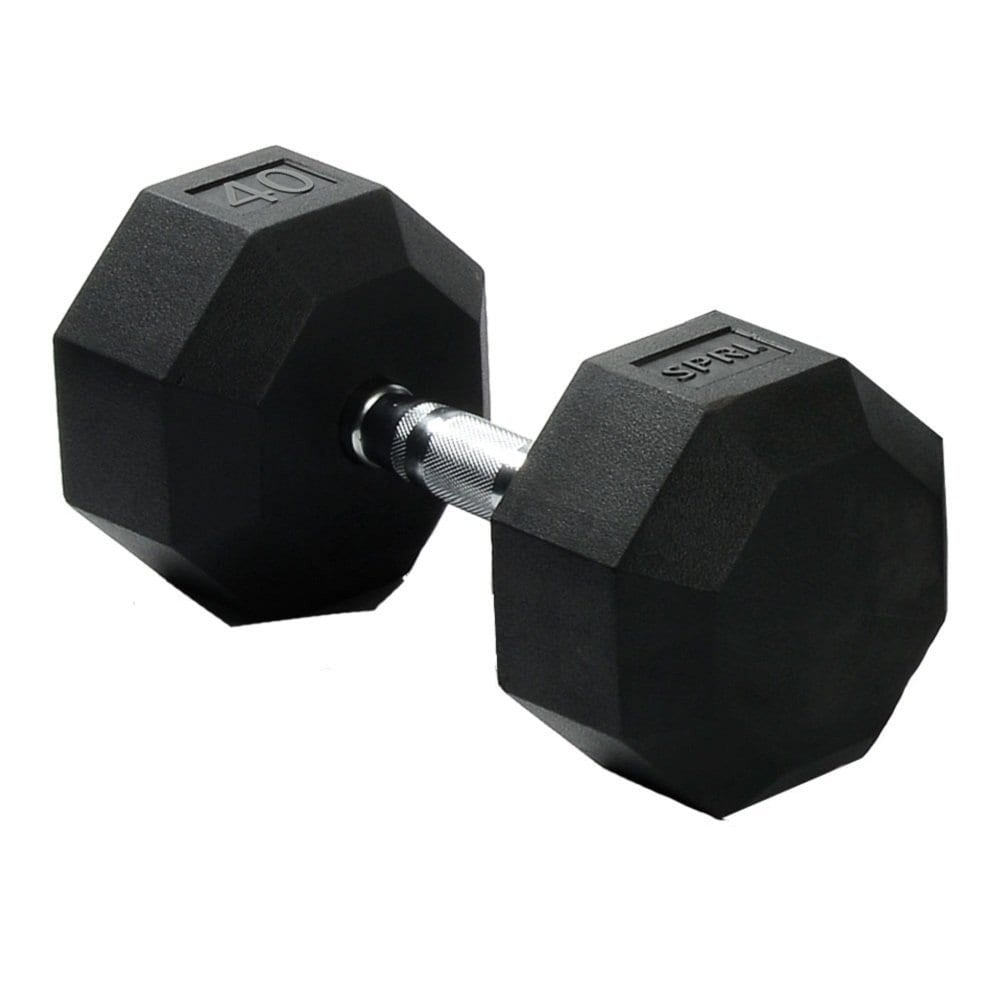Deluxe Rubber Dumbbells – 40lb