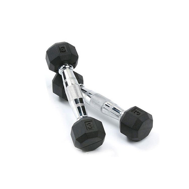 Deluxe Rubber Dumbbells – 3lb