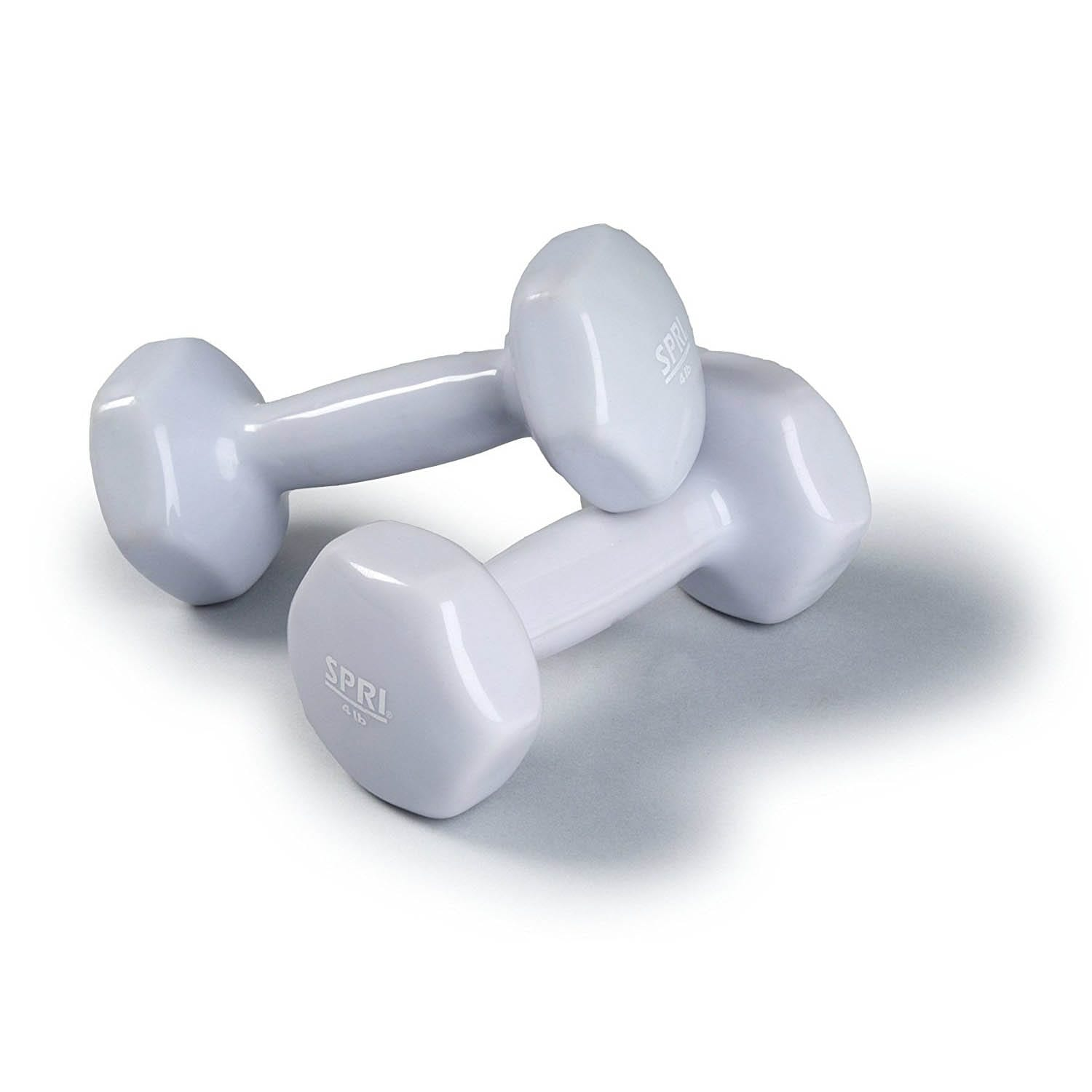 Deluxe Vinyl Dumbbells – 4lb Pair -grey