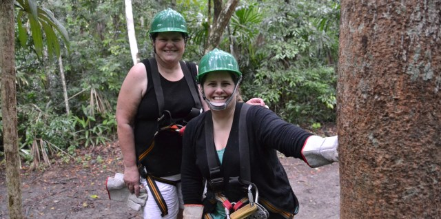 Pam and Sharon After Zip Lining