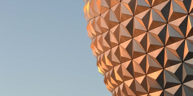 Spaceship Earth at Epcot - Half View