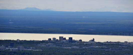 Downtown Anchorage View from Flat Top Viewing Area