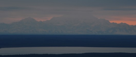 Mt McKinley Hiding at Sunset from Flat Top Viewing Area
