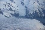 Flying Above Glacier