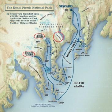 Kenai Fjords Map