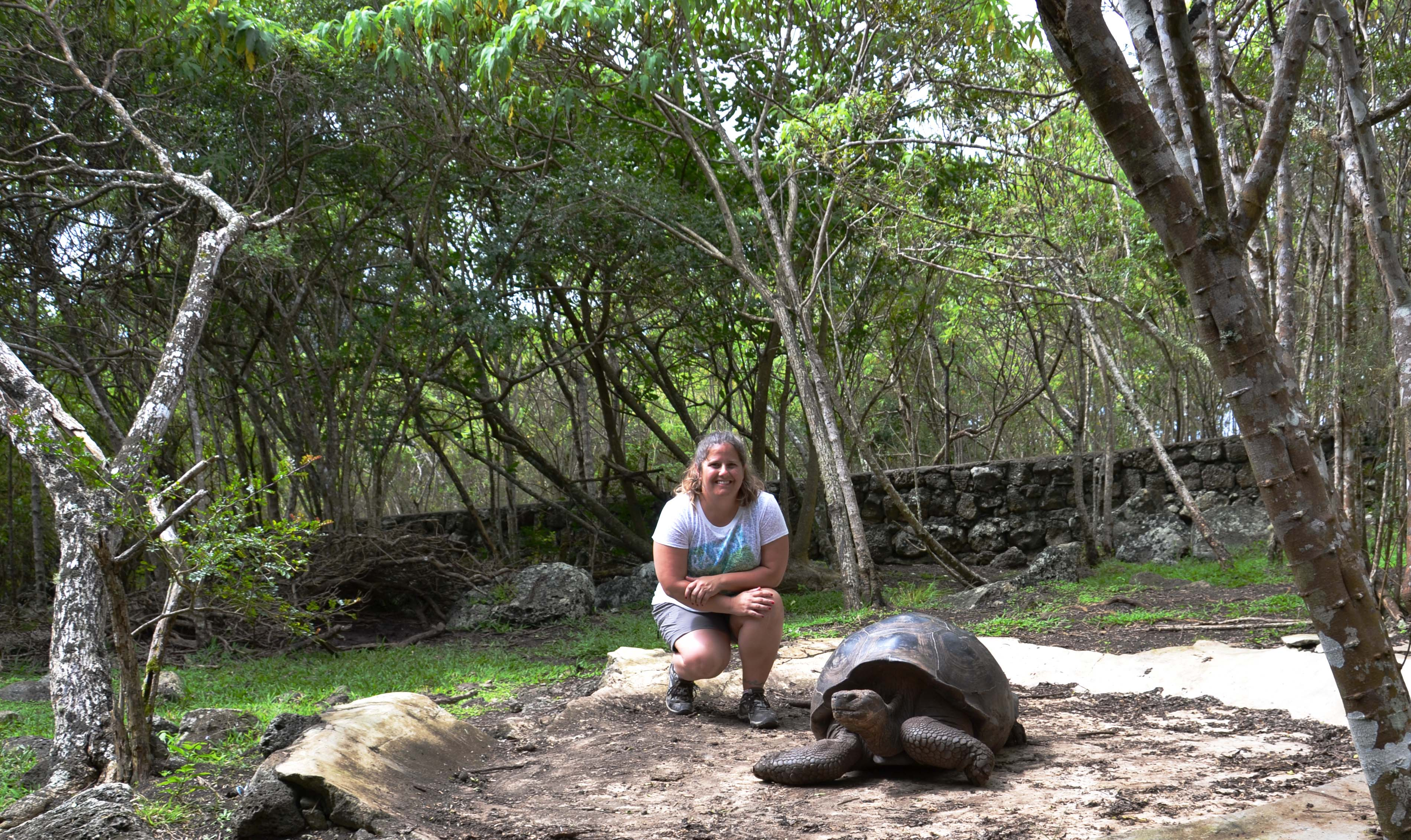 Me and a Land Tortoise