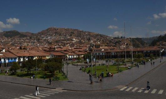 Starbucks View of Plaza De Armas