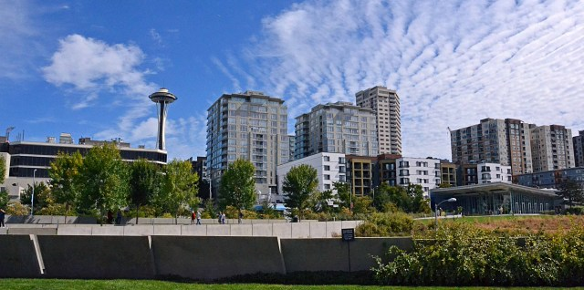 View of Space Needle from Olympic Sculpture Park
