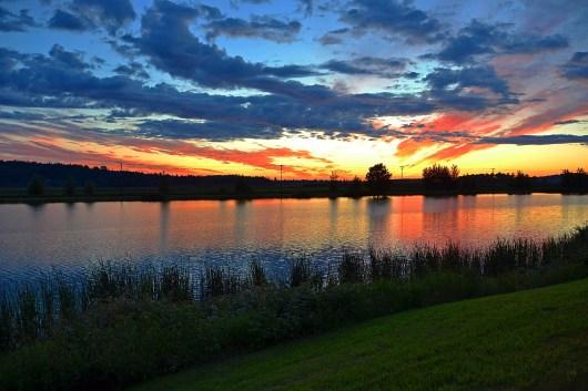 Sunset at Lake Tye