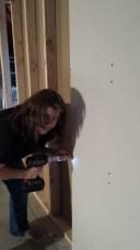 Me Hanging Sheetrock