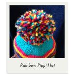 Rainbow Pippi Hat