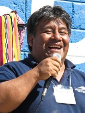 This Guatemalan staff member of GLP used funny songs and games to teach the children how to take care of the books.