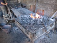 Forge area with bellows at the back