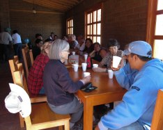 Fueled by a delicious and hearty meal, hikers and birders are ready to hit the trail.
