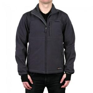 Mens Classic Heated Softshell Jacket-Grey