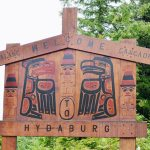 welcome to Hydaburg sign