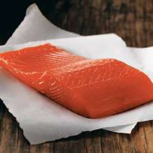 a fillet of salmon