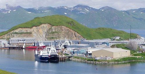Ships and mountains at Dutch Harbor